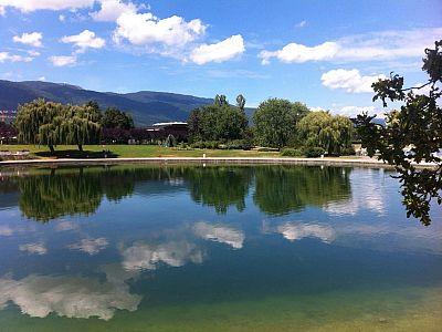 Promenade du tour du lac ville d 39 eaux divonne les bains for Piscine du lac tours